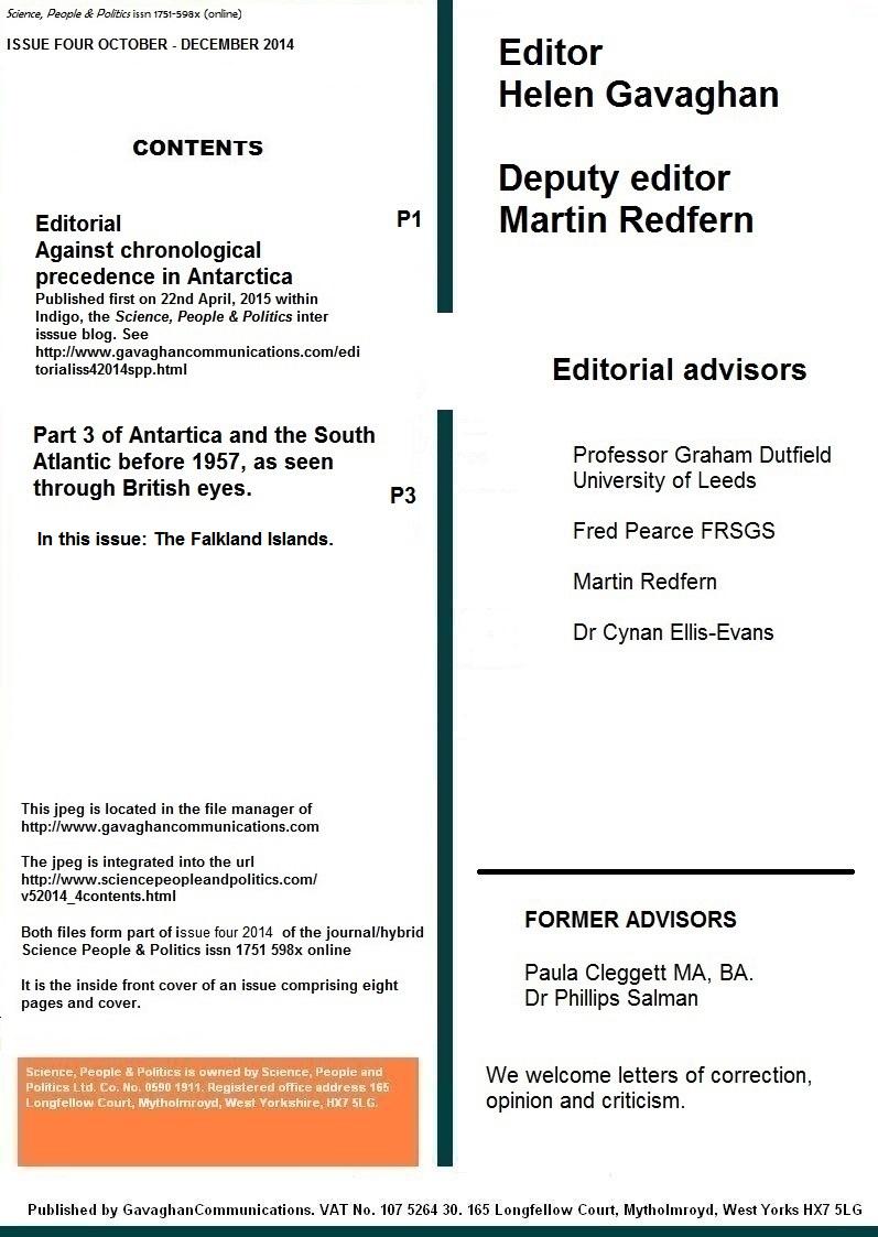 Science, People & Politics, Issue 4, 2014